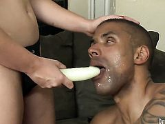Jodi Taylor cant resist the temptation to take his hard cock in her hole in interracial porn action