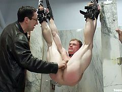 In the men's toilet, a good-looking guy has been strongly bounded and tied up. He is completely helpless and the presence of more naughty boys, making him feel even more humiliated. Click to see Ethan, fucked hard after a kinky hand job!