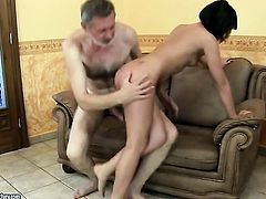 Brunette exotic gets her pussy hole stuffed full of cock in hardcore action with horny dude