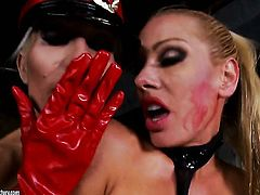 Blonde Puma Swede gets her love tunnel licked by lesbian Sandy in a wide variety of positions