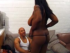 Devlin knows the drill when it comes to fucking black women, with their big booties and sexy boobies. He licks the vagina and makes sure he is giving enough pleasure to the lady, because he wants his dick sucked in return. And evidently, slutty Ms Honey takes his big dick in her mouth and prepares it for a big fuck ahead.