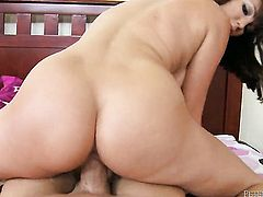 Holly Michaels is sexually happy to be humped by man with rock hard worm over and over again