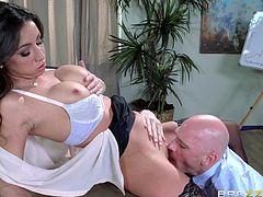 Johnny Sins and his cock are the boss dudes in this company. When a hot newbie arrives for an interview, the boss men dont waste any time. They drill her tight snatch without mercy