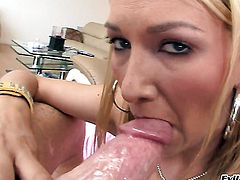 Mike Adriano cant wait any longer to put his love wand in extremely horny Blake Roses bum before she takes it deep down her throat