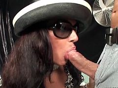 Isabella is a gorgeous brunette with superb big boobs and the guy is happily licking them. Soon, ladyboy starts sucking his hard cock and takes it deep in her throats. As treating him, she jerks hers too. Then, the guy begins sucking her big tranny cock and let this hot transsexual babe fuck his throat!