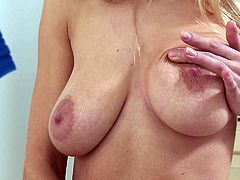 Naked long haired bay doll Lolly with sexy butt and big natural tits rubs her tight pussy as hard as possible in solo scene. She finger fucks herself to orgasm in this nice video.