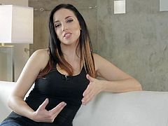 Allie Haze, Chastity Lynn, Elexis Monroe, Jelena Jensen, and Sinn Sage are charming porn stars that get interviewed in front of the camera for the fans. Clothed sexy ladies answer so many questions!