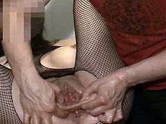 Fist shagging mine Spicy Big-Titted sweetie eager wide open anal hole till its destroyed