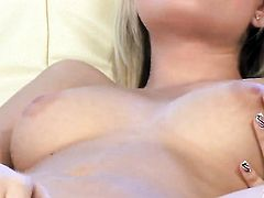 Sophie Cox proves that her body is perfect as she masturbates in her bare skin