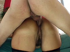 Perverted and hot brunette Vanessa Videl gets analfucked from behind