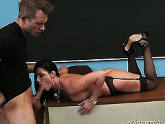 India Summer shows off her hot body while getting pumped hard and deep by Bill Bailey