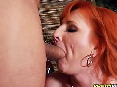Jordan Ash bangs Mature Sasha Brand as hard as possible in anal porn action after dick sucking
