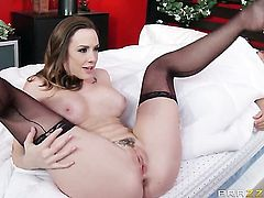 Mick Blue admires bodacious Chanel Prestons body after she takes his love wand in her back yard