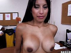 A Latina maid gets out of uniform!