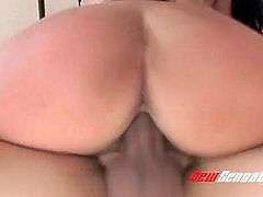 Alluring extremely bootyful black head Christina Jolie jumps on fat dick