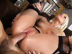 Vanessa Cage finds her mouth filled with guys erect worm
