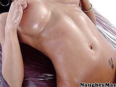 Capri Cavanni licking up her creampie
