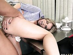Danny Mountain explores the depth of amazingly sexy Courtney Cummzs wet twat with his sausage