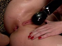 horny lesbians play with sex toys