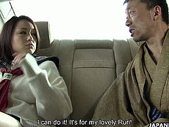 Kinky boss gives good tongue job to sexy secretary Rui Natsukawa