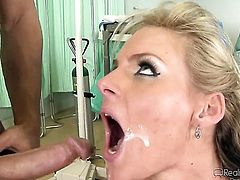 Johnny Castle explores the depth of gorgeously sexy Carolyn Reeses wet fuck hole with his worm