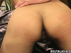 Asian cuttie getting double penetrated like crazy