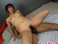 Japanese milf fucked in hairy slit a lot