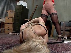 bdsm time with slutty busty blondes
