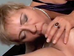 Euro mature enjoys long anal fuck