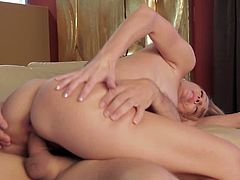 Busty blond sweetie Brenda James rides big cock of kinky Ramon Nomar