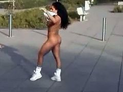 Public Nudity Black Girl Run