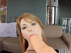 Self pussy fisting for big boobed redhead babe