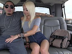 When a slutty babe is eager to take a ride with the bang bus, she's also available for getting dirty. Click to see a blonde bitch being picked up and getting paid, to offer sexual favors. Watch her sucking cock on the backseat. Enjoy the inciting details!