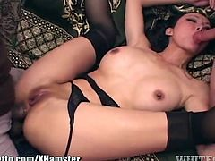 Ange Venus Spitroased Anal Threesome