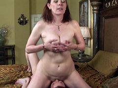 Sultry lesbian with long red hair getting her pussy licked