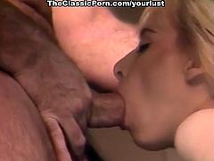 Wonderful busty blondie gives titfuck and enjoys doggy style fuck