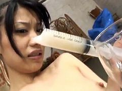 Miki Uehara has xxx playthings and syringe together with jizz