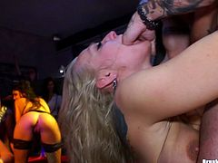 As the party roars on, these drunk girls impale themselves on hard cocks