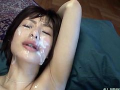 smiling asian slut gets banged