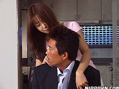 Fuck hungry hubby tickles pussy of his shy Asian girlie greedily