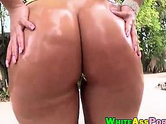 Huge booty and big boobies Ava Alvares banged outdoors