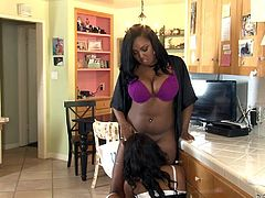 Slutty Chanell works as a servant in sexy Layton's nice house. Click to see the nasty mistress with big breasts getting really passionate. The naughty bitch in uniform knows exactly how to please her. Don't miss the inciting pussy eating scene!