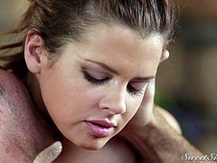 This masseuse knows how to make a guy feel much better. She uses her hands and makes her lover feel so relaxed. Soon he is rock hard, so she uses her mouth and tongue to please him orally. This masseuse can deepthroat wonderfully.