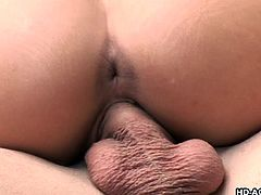 Eva Angelina, with her amazing big boobs and round ass, is having a pleasant hardcore fun with her cocky man. This naked beauty is bouncing off her tits and laughing happily, as she rides on his big boner. With each banging she moans and screams with pleasure. Let's see if she takes the jizz on her nice tits!