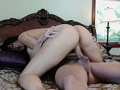Bootyful black haired MILFs are mad about riding fat cock on top (MMF)