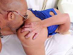 If you are fond of slutty milfs, click to watch a naughty blonde-haired slut, playing dirty with a big ebony cock. See horny Alysha fucked hard from behind. Her round ass looks so appetizing. Don't miss the hardcore scenes!
