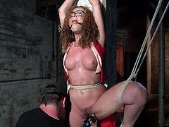 redhead is gagged and bound