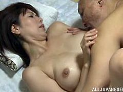She got so much pleasure when I ate out her mature cunt. The beautiful slut moaned with ecstasy, as I shoved my cock inside of her and fucked her so hard. The mature Japanese beauty loved sucking me off.