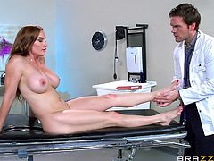 Slutty Diamond went to see her doctor. The man prescribed a high dose of lusty desires and encouraged her to get loose in his presence. Click to see the busty milf undressing. Watch the horny doctor sucking her toes... Enjoy the kinky scenes and get entertained!