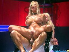 Insane sluts Gina Lynn and Shyla Stylez in mind blowing threesome